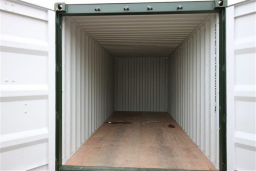 Inside view of container