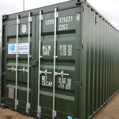Exterior View of container