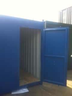 8ft Blue Single Door Store