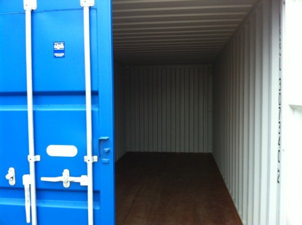 Shipping Containers with door open