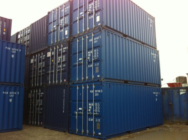 Exterior View of Shipping Containers