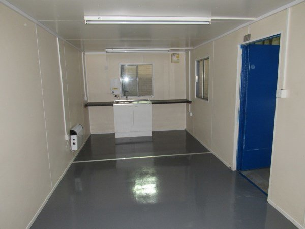 24ft x 10ft open plan canteen