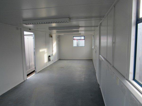 32ft x 10ft flat sided steel cabin