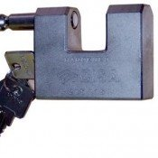 Shipping container padlock