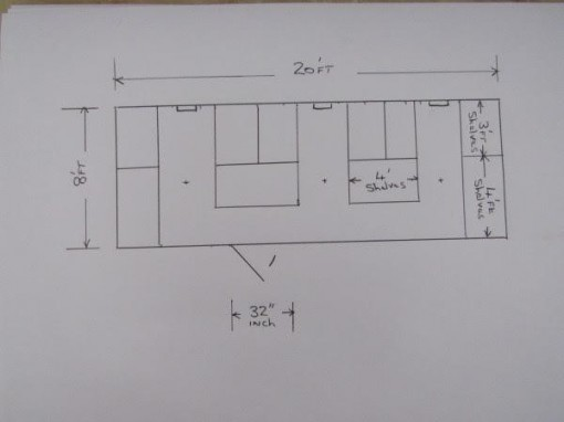 Document Storage Cabin Drawing