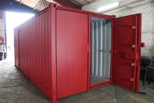 Exterior container doors