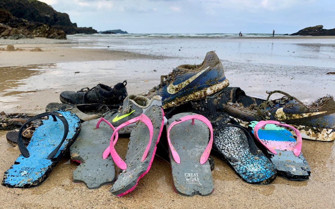 Hundreds of Nike trainers wash up on beaches after cargo ship lost containers in storm