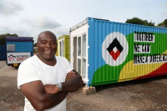 Shipping Containers transformed into refuge for the homeless
