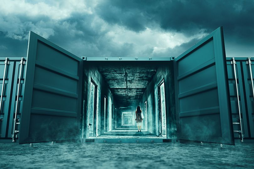 This new horror attraction involves getting locked inside a pitch black shipping container