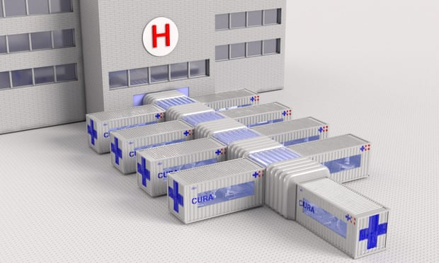 Architect in Italy turns shipping containers into hospitals for treating Covid-19