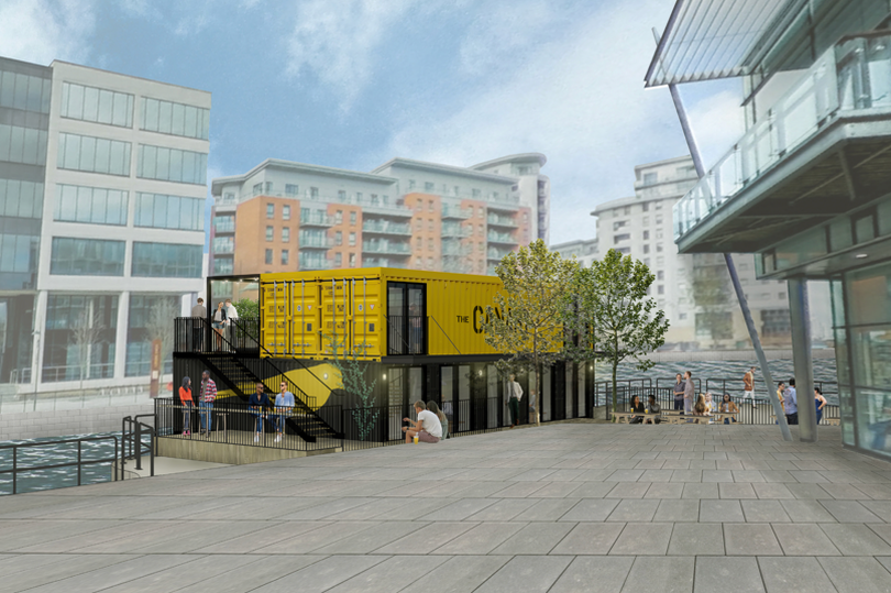 New waterfront bar made from shipping containers to be built at Leeds Dock