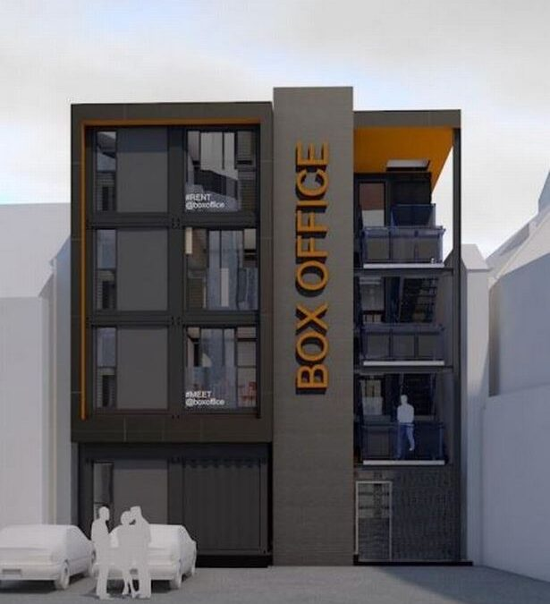 Shipping Container office Block Plan For Cardiff