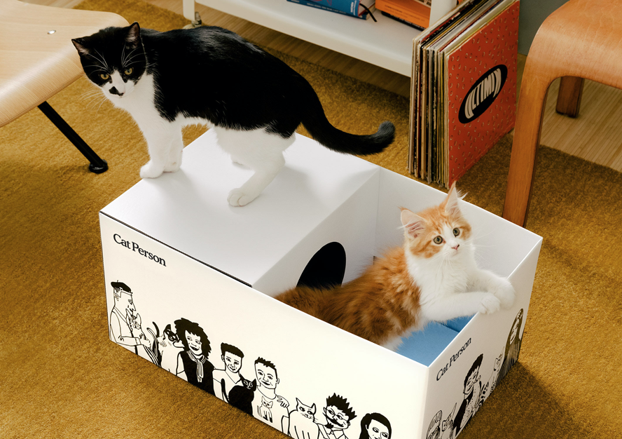 THESE CARDBOARD SHIPPING CONTAINERS TRANSFORM INTO CASTLES TO SERVE YOUR CATS BETTER!
