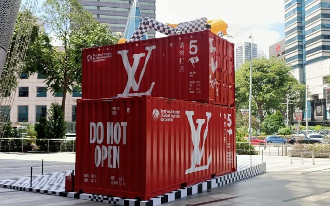 Shipping containers meet fashion with Louis Vuitton