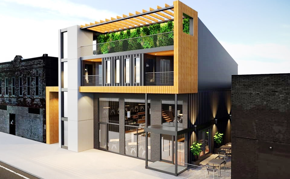 Corktown Project Turns Shipping Containers Into Three Lofts And Shops